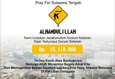 Donasi untuk Sulawesi Tengah