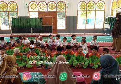 Akhi kelas 1 Abu Bakar dan Umar Bin khatab belajar menggosok gigi